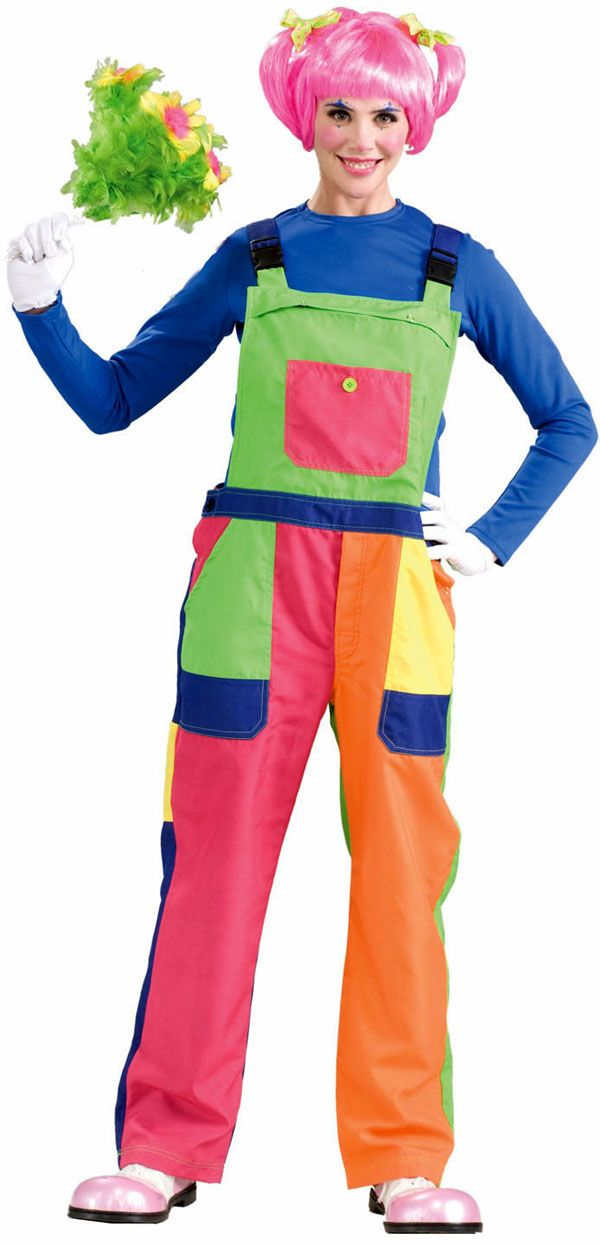 Clown Costumes for Women | Adult Overalls Clown Costume | Clowning ...