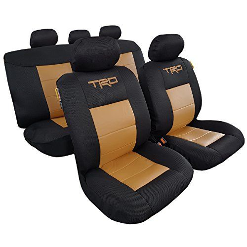 Airflow Cool Black Mesh Tan Faux Leather TRD Car Seat Cover For Toyota Tacoma 19992016 Be Sure To Check Out This Awesome Product