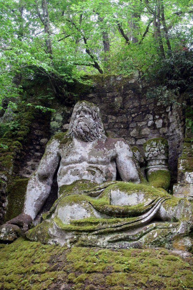 Bosco Sacro Gardens, Bomarzo, Italy | spirited | Pinterest | Italy ...
