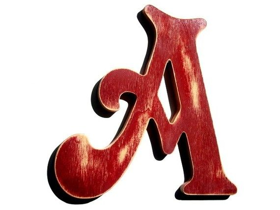 red letter A