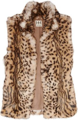 ShopStyle: Haute Hippie Cheetah-print rabbit gilet