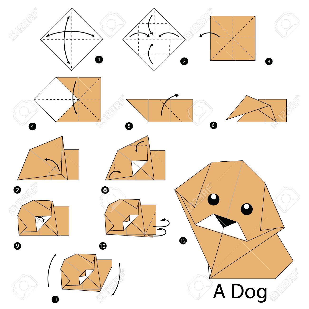 afbeeldingsresultaat voor origami hond zvierat. Black Bedroom Furniture Sets. Home Design Ideas