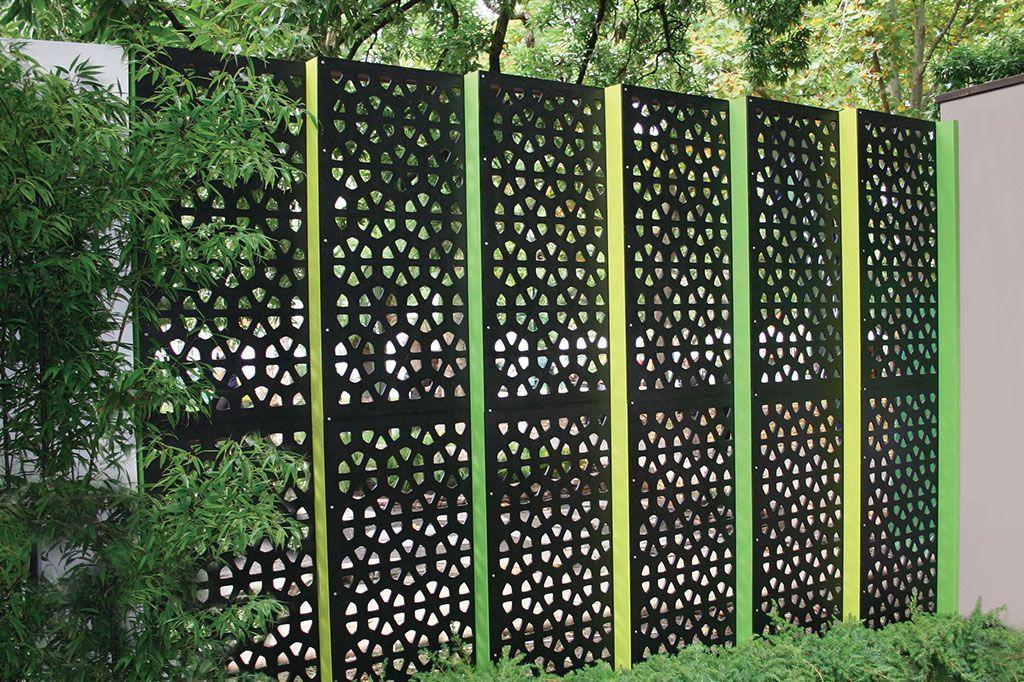 Sichtschutz Terrasse Garten Holz Metall Modern Secret 4 Stahlzart Moderner Garten Sichtschutzzaun Garten Gartengestaltung Ideen