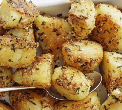 Parmesan-roasted potatoes Recipe Christmas Day Lunch Potatoes