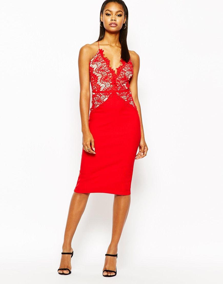 Rare London Pencil Dress With Scallop Lace Bodice | Fashion ...