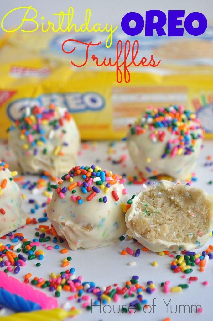 Three Ingredients And No Bake Birthday Cake Oreo Truffles Bday