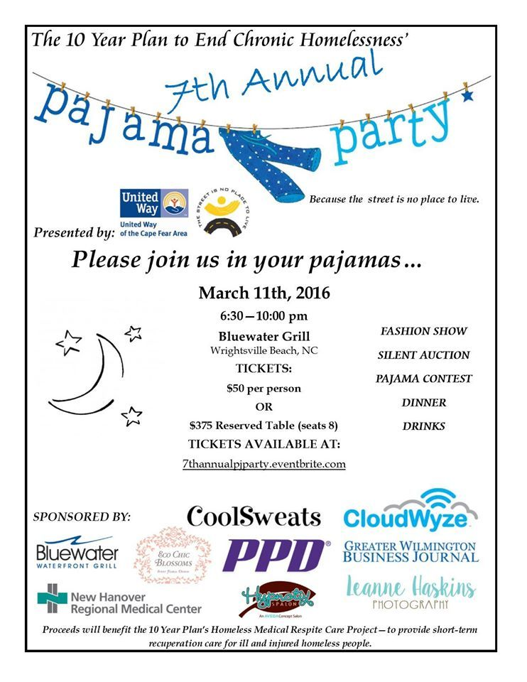 7th Annual Pajama Party invitation