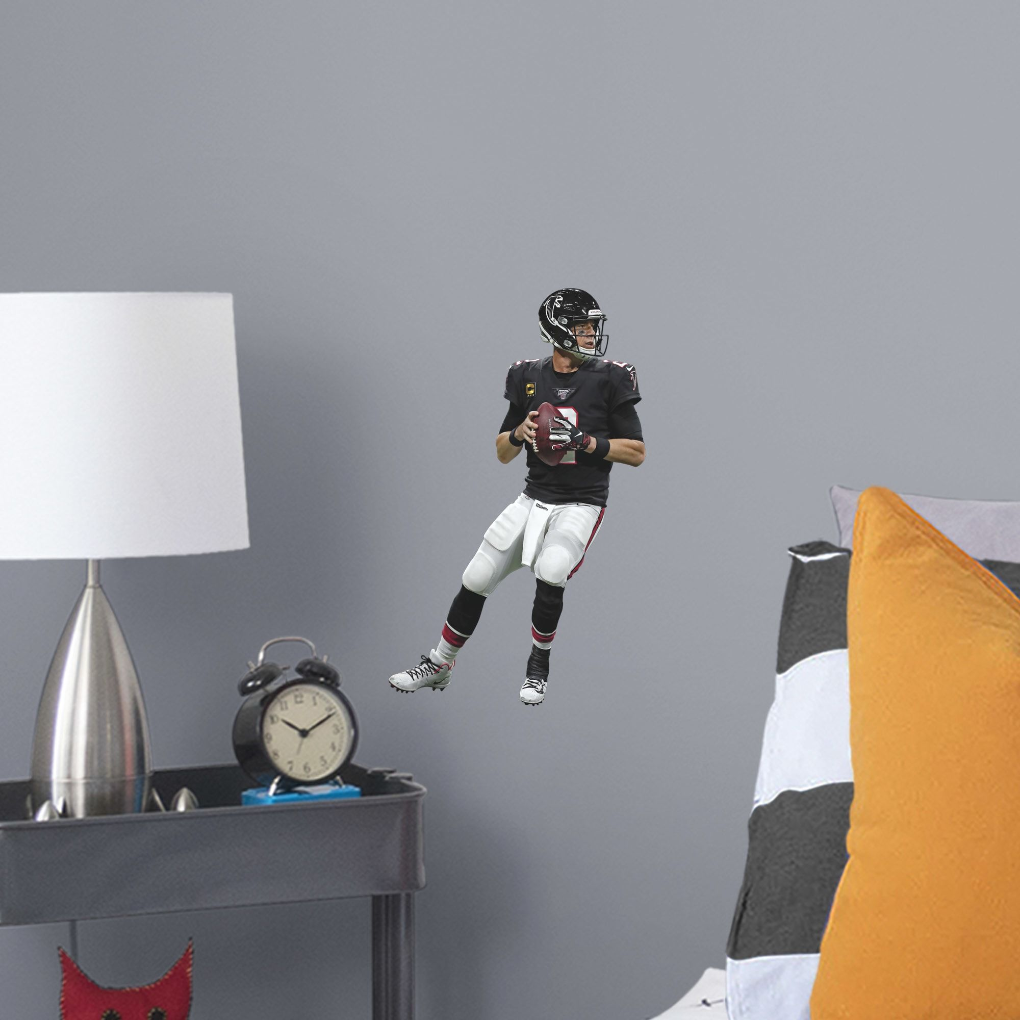 Matt Ryan Throwback Large Officially Licensed Nfl Removable Wall Decal In 2020 Removable Wall Decals Wall Decals Removable Wall