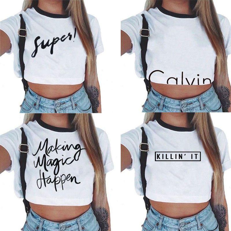 Summer Women Casual Tank Top Blouse Ladies Slim Print Crop Top T Shirt Sportwear Casual Tank Tops Crop Tops Women Tank Tops Summer Casual