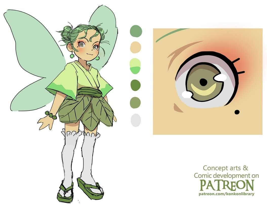 🌸 Hi friends! Here is Tinker bell reference sheet from Wendybird! I personally love buns with lose wavy hair! I find it very cute TvT I share all the concept arts from Wendybird weekly on patreon and some art from my personal comics if you wanna get more of my art! The link is in my bio 🌸🤗 . . .#charcter design #conceptart #visualdevelopment #Wendybird #webtoon #webcomic #patreon #patreoncreator #nature #fantasyart #fantasyartist #sketch #sketchbook #characterdesign #baby #sketches #sketchboo