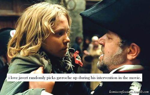 I Love That Javert Randomly Picks Up Gavroche During His