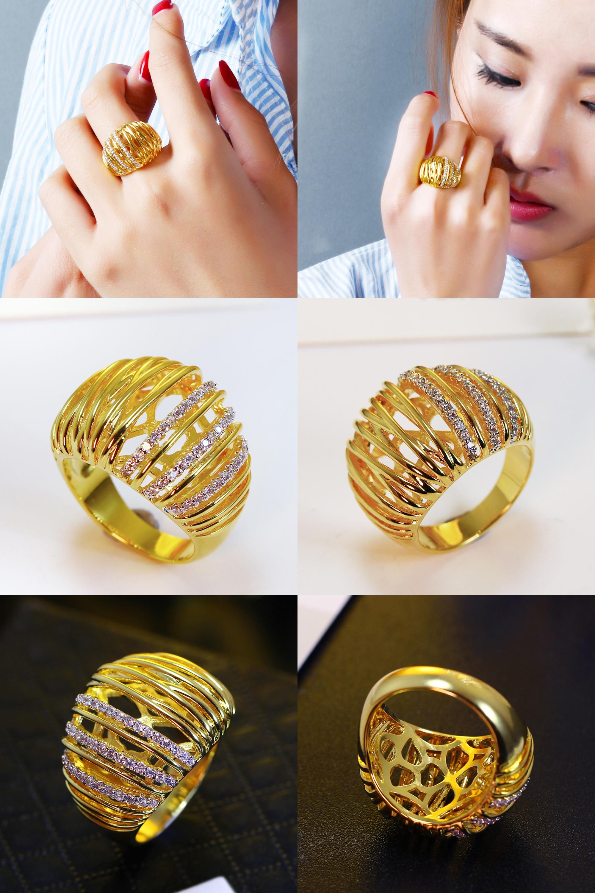 Visit to Buy] Ring of Gold color High quality Hot sale ring