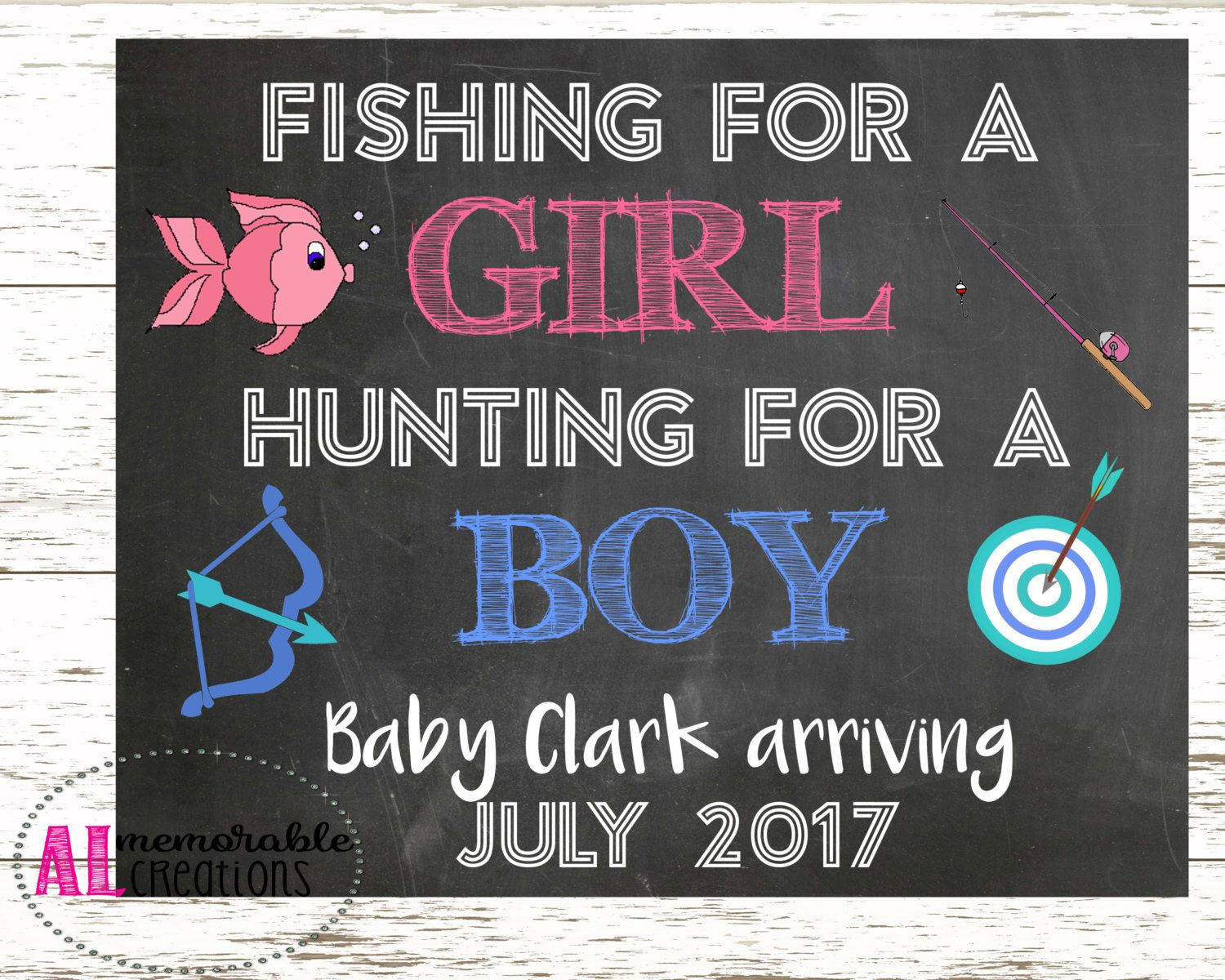 Pregnancy Announcement Photo PropNew Baby AnnouncementFishing – Etsy Baby Announcements