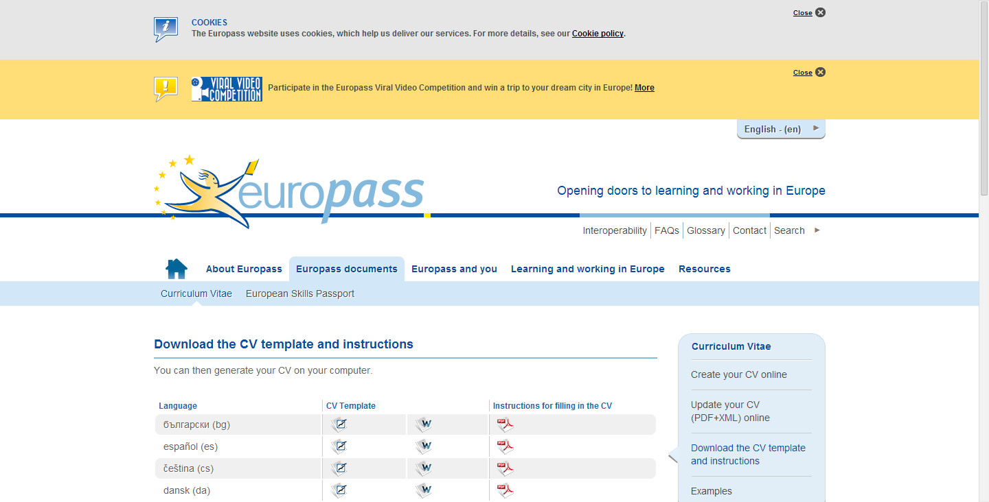 Europass download the cv template and instructions frenchfl ap cv templates and guidelines yelopaper