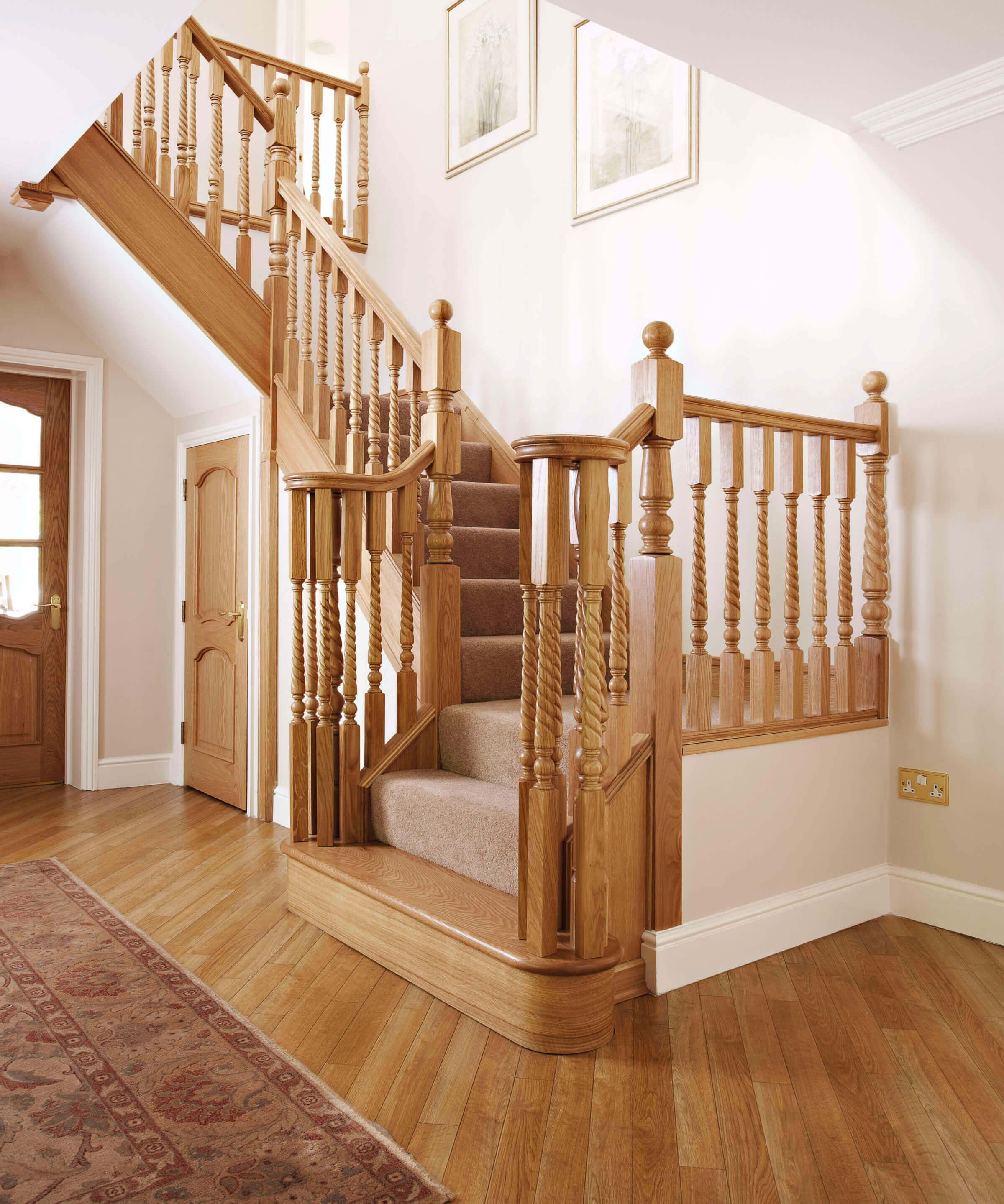 Best Traditional Oak Staircase House Staircase Timber 640 x 480