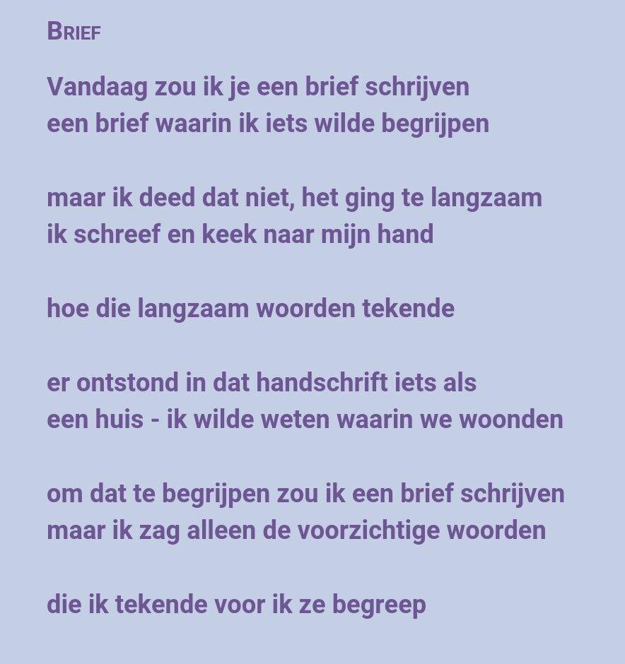 Gedicht Brief Van Rutger Kopland Brief Schrijven