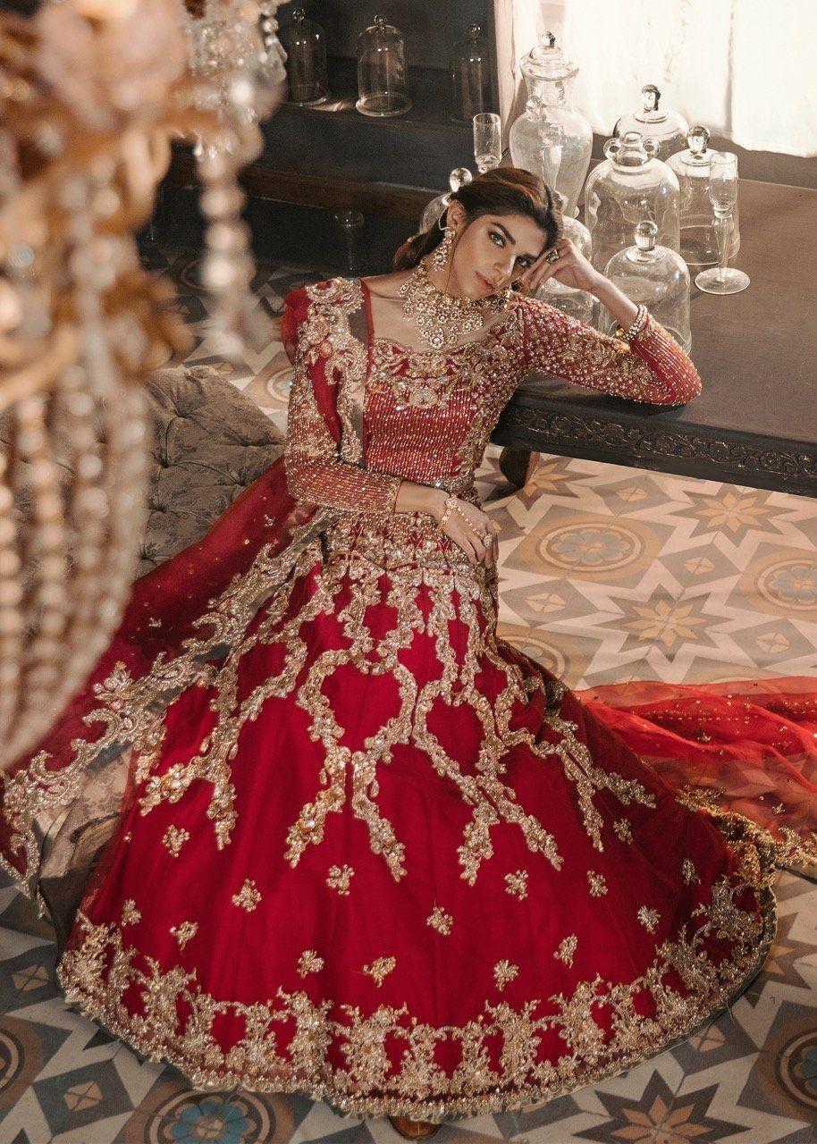 Latest traditional red bridal lehenga 2019 b1992