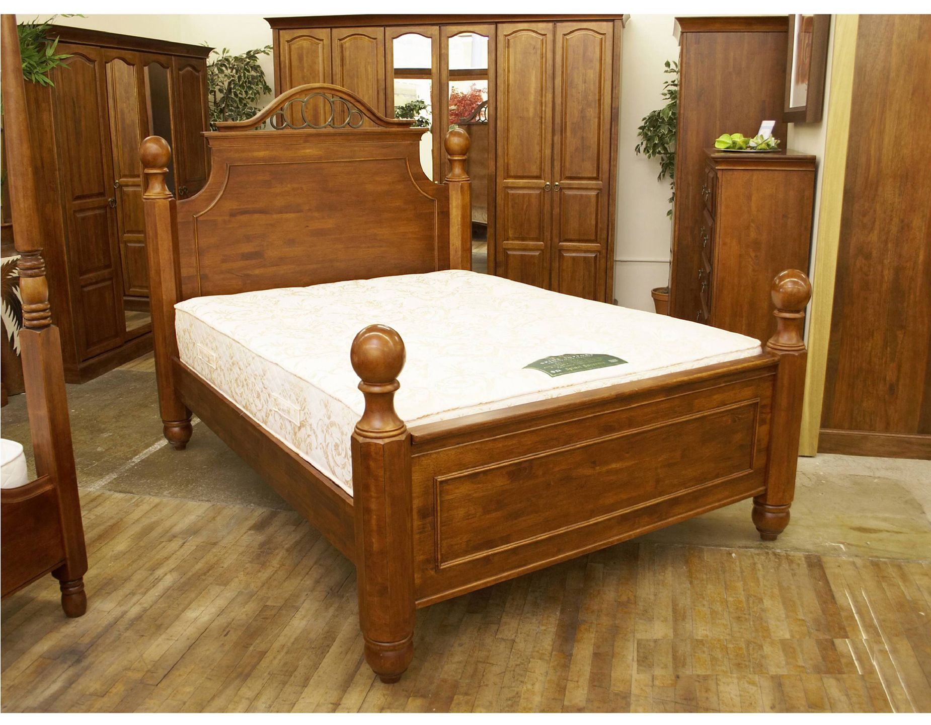 Bedroom Furniture Traditional oak bedroom furniture collection is hand-crafted from solid golden