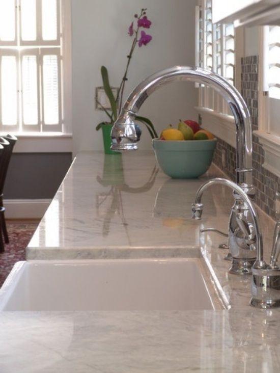 ideen küchenarbeitsplatten aus granit weißer granit küche - wasserhahn küche weiß