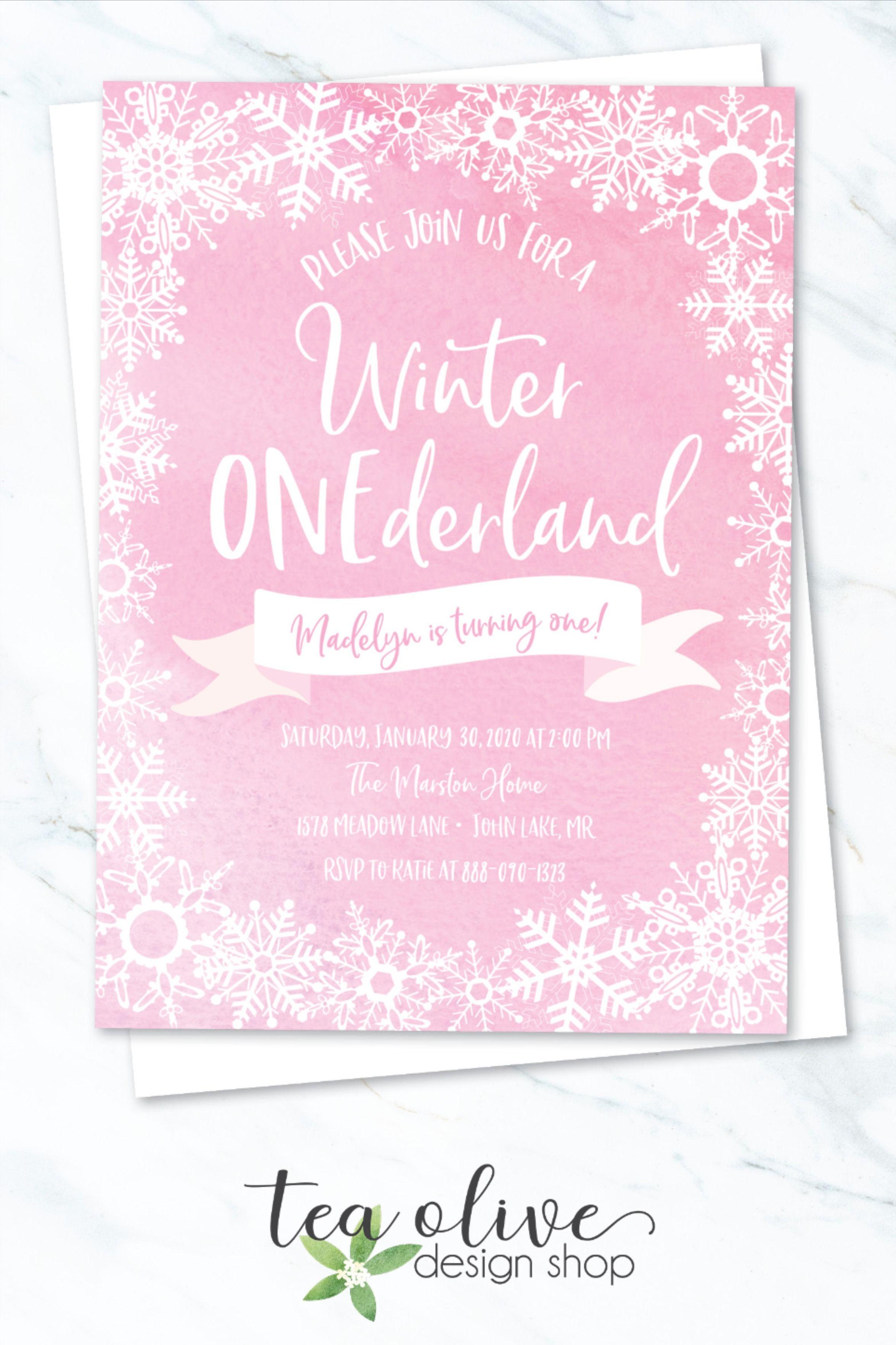 Snowflake Birthday Party Invitation Winter Onederland Etsy In 2021 Winter Onederland Birthday Invitations Snowflake Birthday Party Winter Onederland Birthday Party
