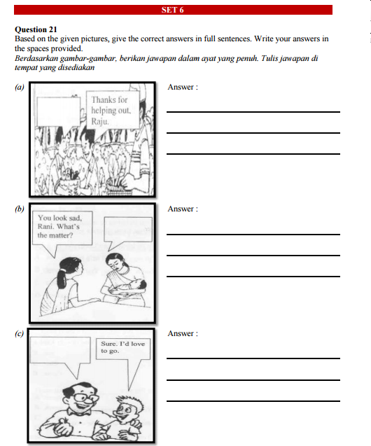Upsr English 013 Section B Practice Language Worksheets English Worksheets