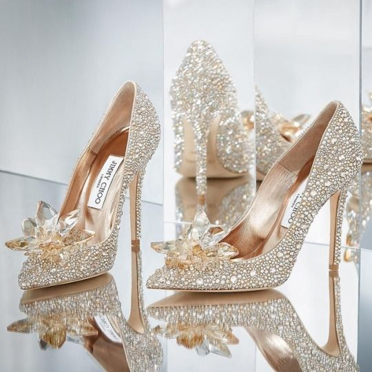 Pin By Rainstormdragon On Ivory Lace And Sunlight Cinderella Wedding Shoes Bling Shoes Crystal Shoes
