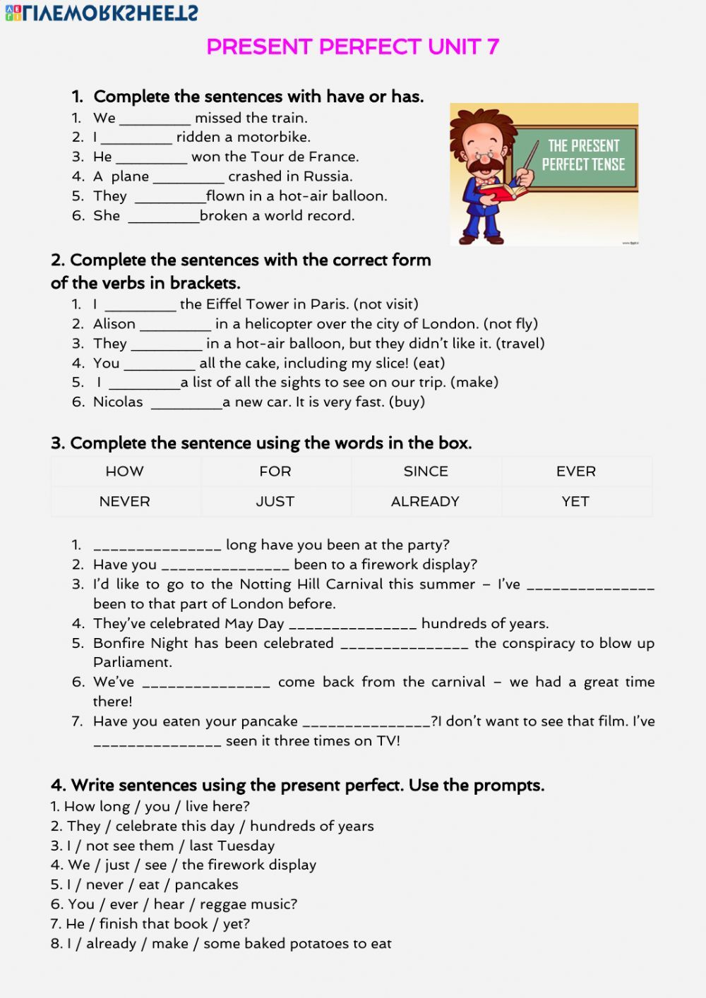 small resolution of PRESENT PERFECT TIME EXPRESSIONS in 2020   Present perfect