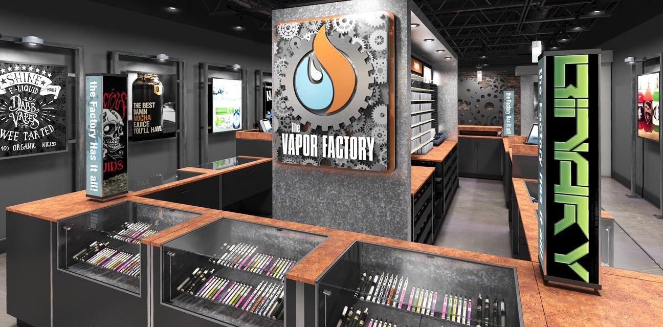 How to open a Vape Vapor store fixture design Store