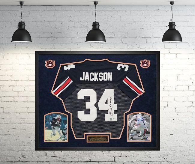 hot sale online 40e65 baa97 Bo Jackson Auburn Tigers Autographed Jersey - Custom Framed ...