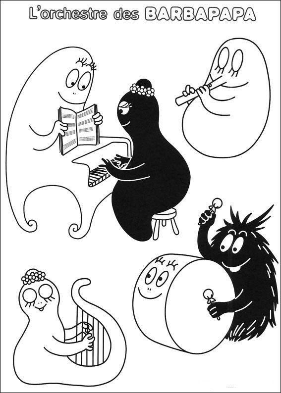 barbapapa tegninger til farvelægning 23  malebøger