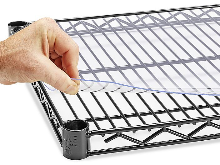 Wire Shelf Liners Wire Shelf Covers In Stock Uline Wire Shelving Wire Shelf Liner Wire Shelf Covers
