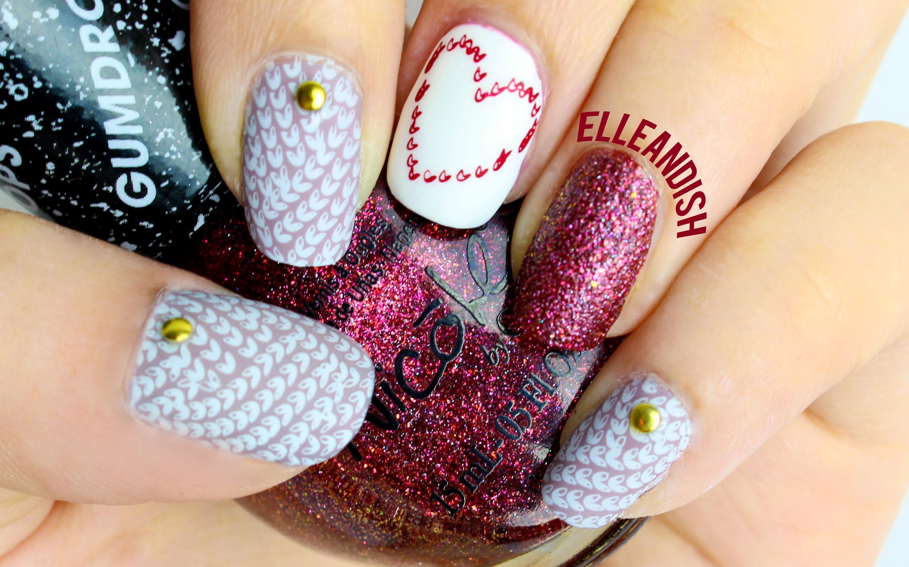 knit sweater nails (stamping) | // n a i l s // | pinterest
