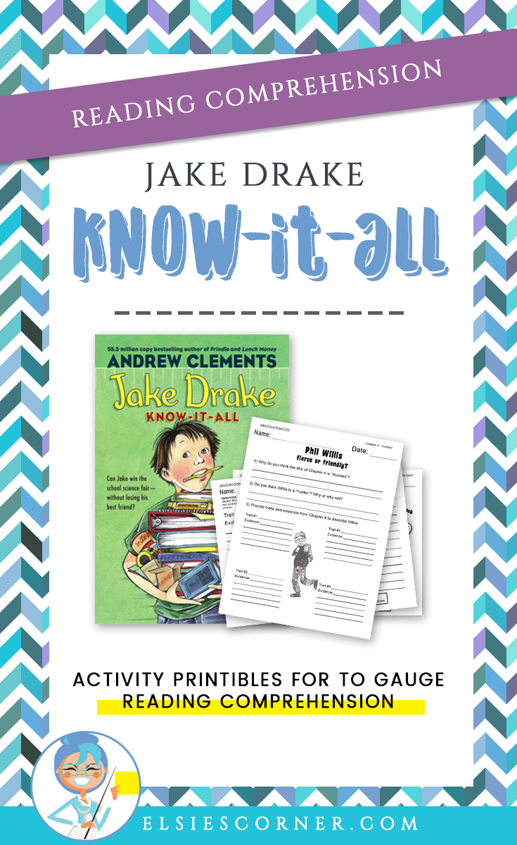 No Student Wants To Follow Up A Chapter Of Jake Drake Know It All With Bo Teaching Reading Strategies Comprehension Activities Reading Comprehension Activities [ 1200 x 735 Pixel ]