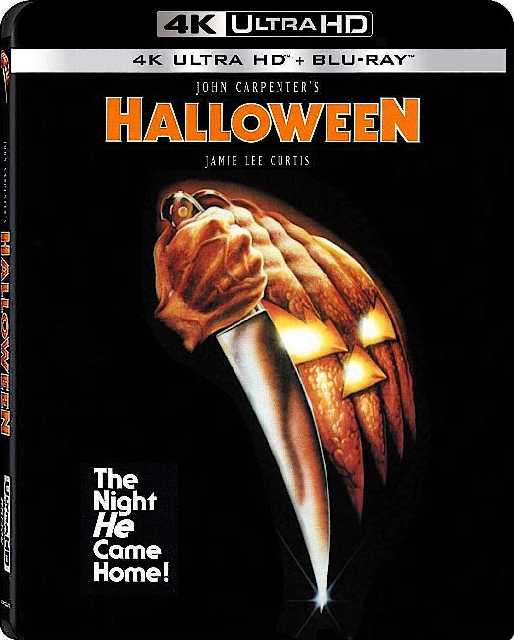 HALLOWEEN 4K BLURAY (LIONSGATE) Halloween dvd