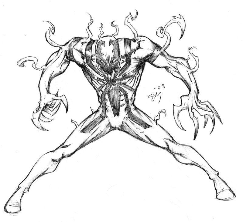 My First Anti Venom By Spacehater Art Humanoid Sketch Venom