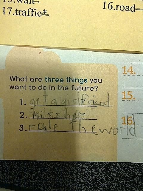 LOL kid knows what he wants!