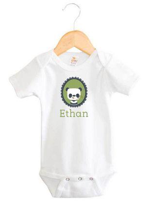 Panda Baby Boy Name Onesie | Personalised Baby Gifts | Word On Baby