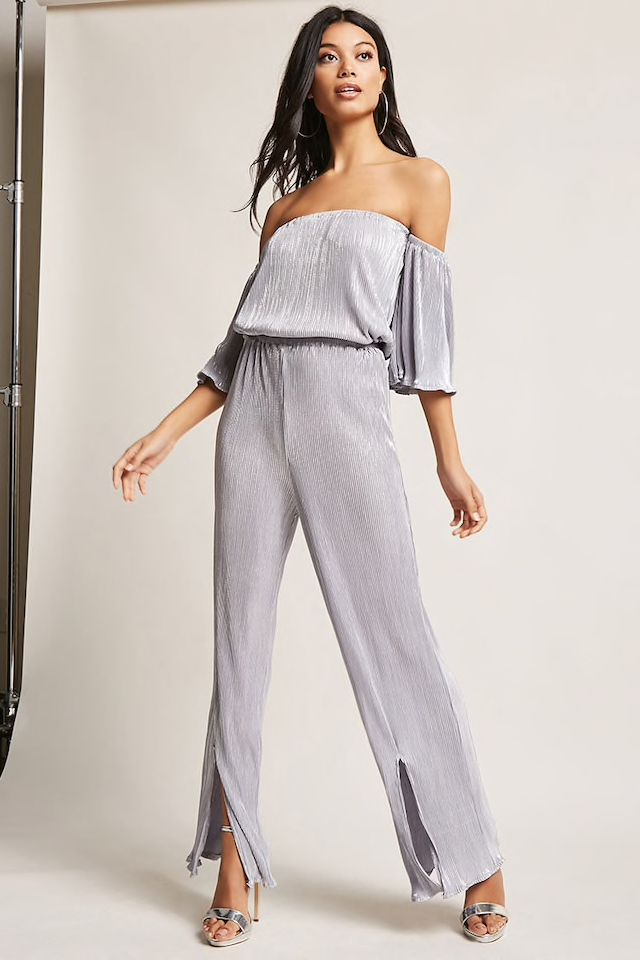 Forever 21 Accordion Pleated Jumpsuit