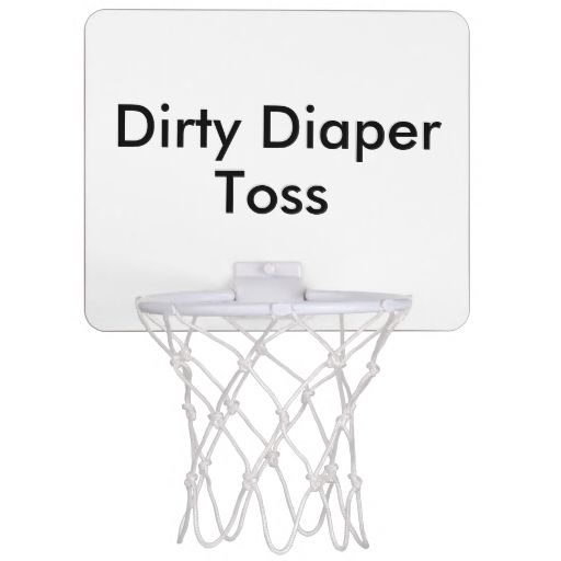 Dirty Diaper Toss Baby Shower Game Mini Basketball Backboard