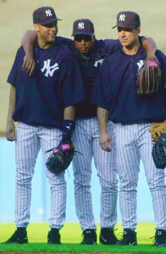Derek Jeter, Bernie Williams, and Tino Martinez. Yankee greats.