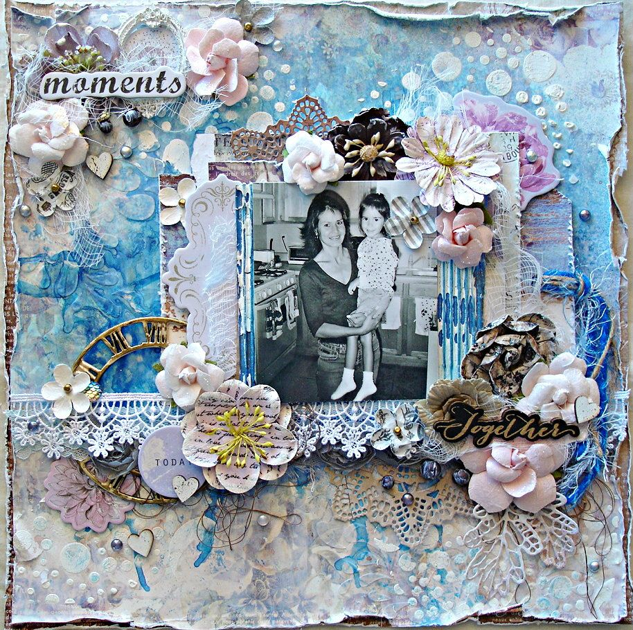 My Entry for Prima's PPP April Challenge - Scrapbook.com