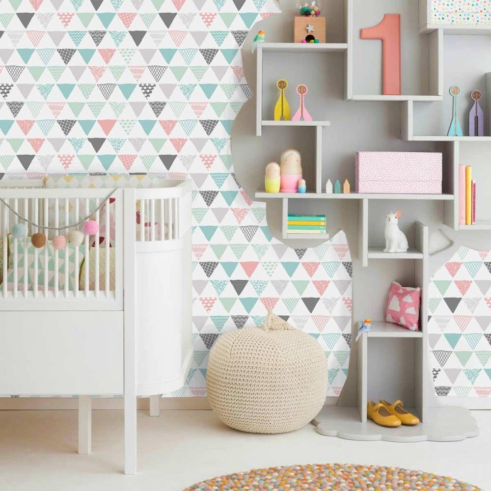 papel de parede para quarto infantil unissex