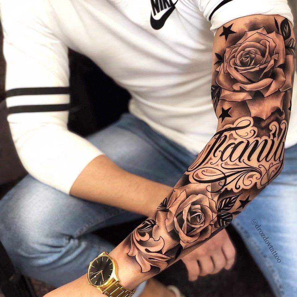 "Em Morris on Instagram: ""Amazing artist Vladimir Drozdov @drozdovtattoo awesome roses family tattoo sleeve! @artstationhq @worldofartists @inkedmag @sephora @ink"""