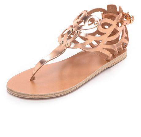 Medea Metallic Flat Sandals