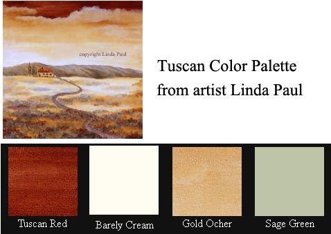 Tuscan Colors Color Palette Paint Decorating
