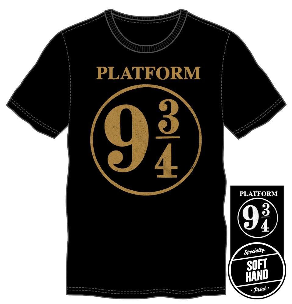 3385f99568a Harry Potter Hogwarts Express Platform Nine and Three-Quarters 9 3 4 Men s  Black T-Shirt