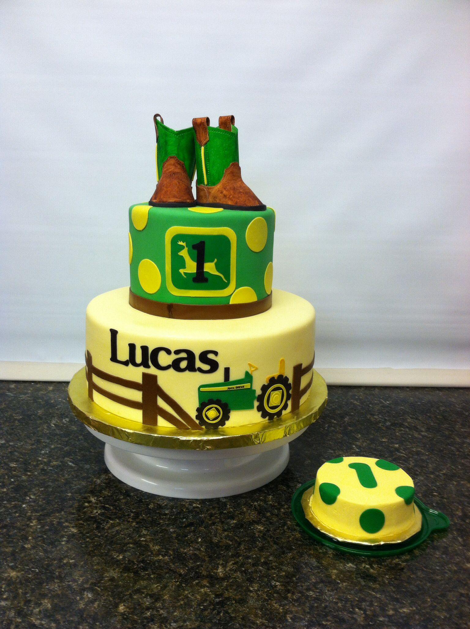 John Deere First Birthday Cake - Cake Decorating Community
