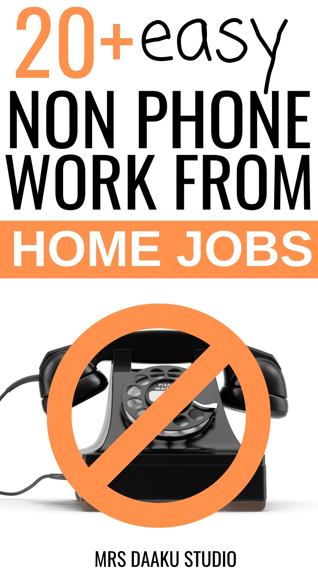 Non Phone Work From Home Jobs 50+ MEGA LIST! in 2020