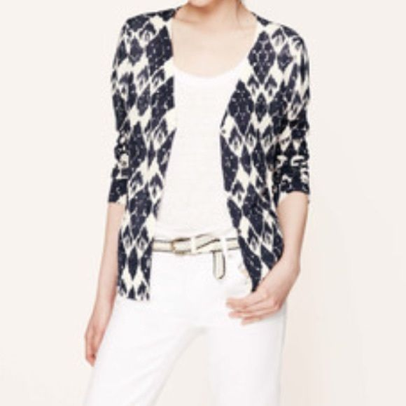 ✳️TAKE 10% OFF✳ Loft Ikat summer weight cardigan ✳ Take an ...