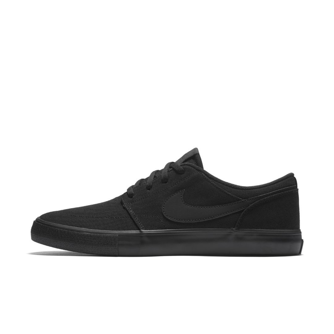 huge discount 06e79 349e8 Nike SB Solarsoft Portmore II Canvas Mens Skateboarding Shoe Size 10.5  (Black)